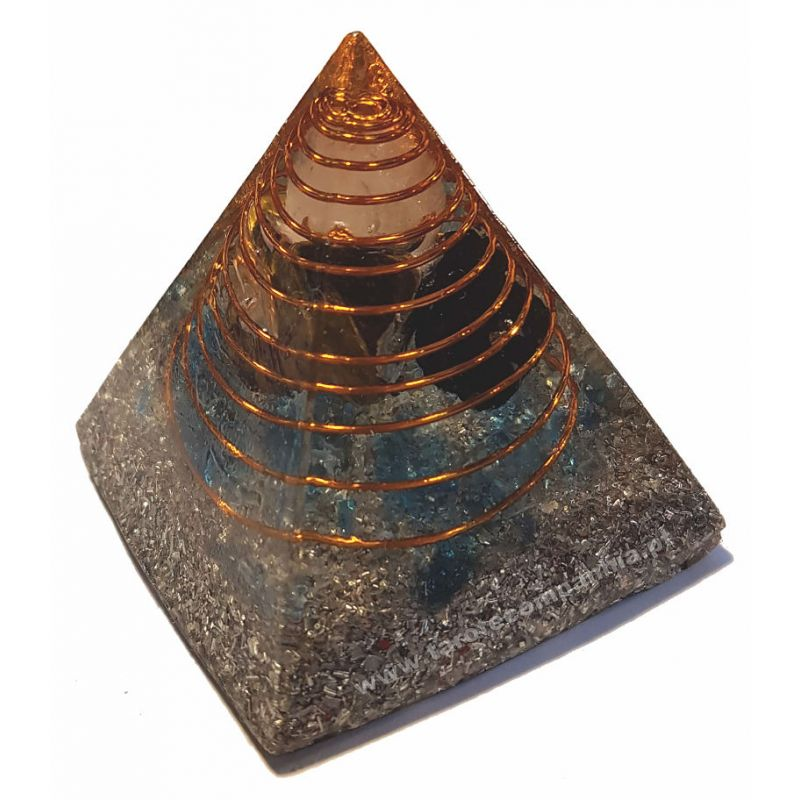 Pirâmide de Orgonite Verde